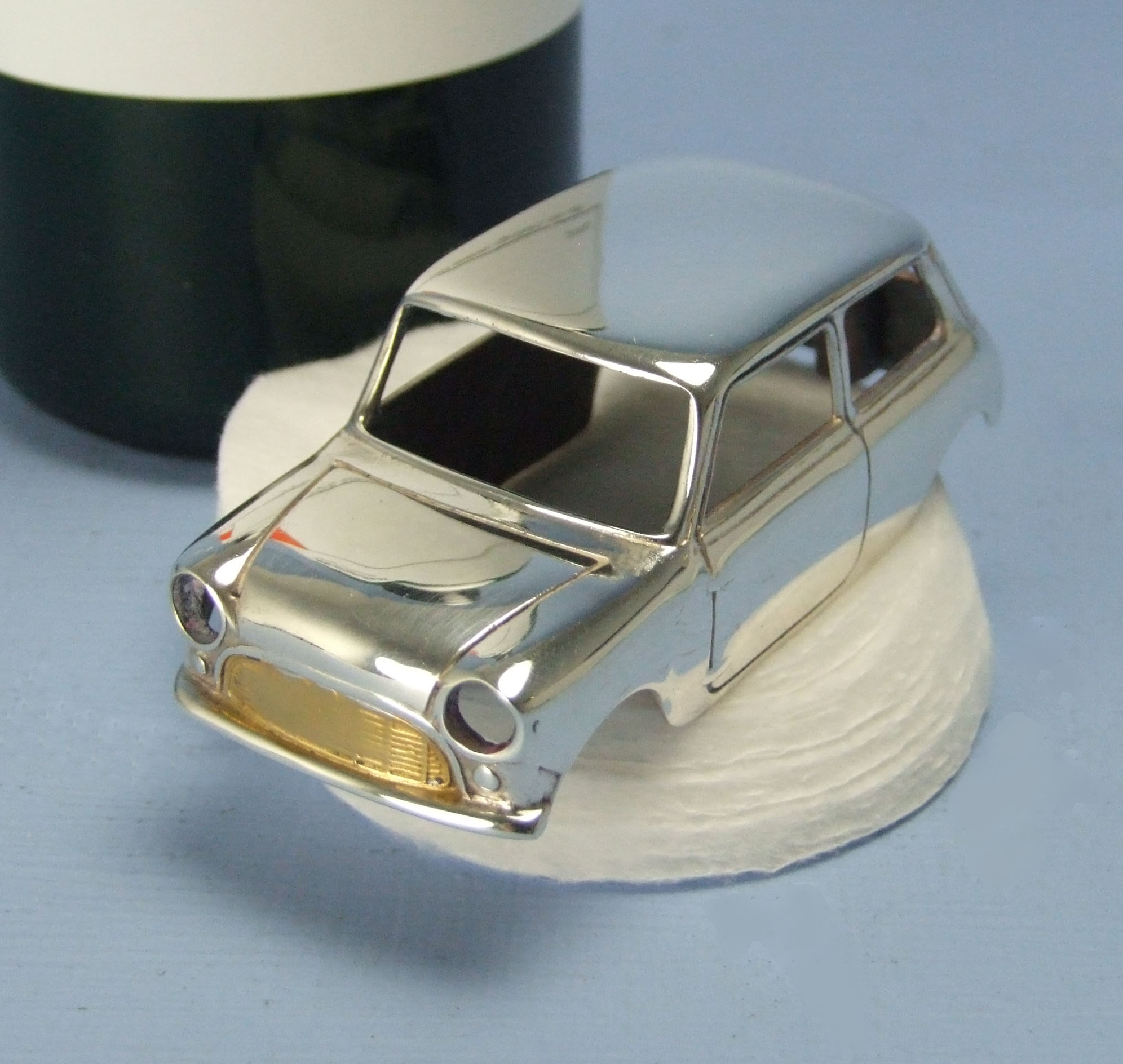 gold plated model car