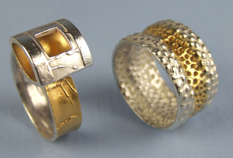 Gold pen plated rings