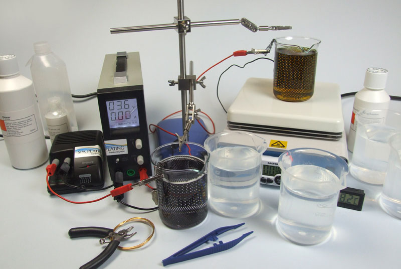 how to clean rhodium plating solution